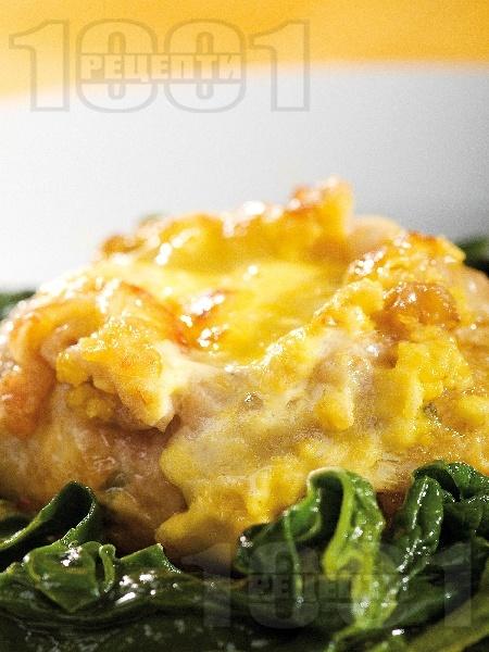 Сарма с пилешко месо, ориз и топено сирене - снимка на рецептата